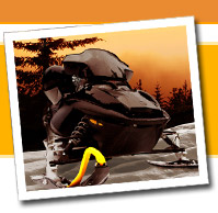 Snowmobile tracks, skis and runners, gauges and cables, engine parts, brakes, and accessories